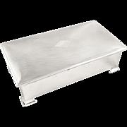 Antique Sterling Silver Cigarette Box 1936