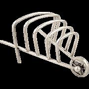 Antique Silver Plated Wheelbarrow Toastrack c1900