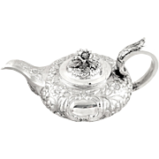 Antique William lV Irish Sterling Silver Teapot - Dublin 1832