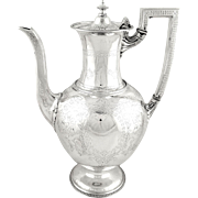 """Antique Victorian Sterling Silver 2 3/4"""" Pint Coffee Pot 1870"""