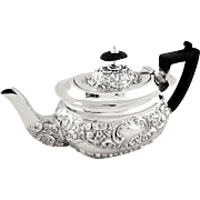 Antique Victorian Sterling Silver Bachelor Teapot - 1898