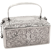 Antique American Silver Purse /Box with Perfume & Vinaigrette - James E Blake