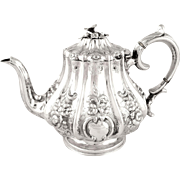 Antique Victorian Sterling Silver Teapot 1853