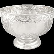 Antique Edwardian Sterling Silver Bowl on Pedestal Base 1908