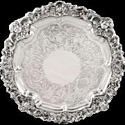 "Antique Scottish William lV Sterling Silver 12"" Tray - Edinburgh 1833"