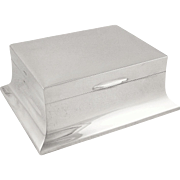 Antique Sterling Silver Cigarette / Trinket Box 1940
