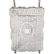 Antique Victorian Sterling Silver Card Case 1863