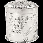 Antique Edwardian Sterling Silver Vanity Pot 1901