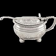 Antique Georgian Sterling Silver Mustard Pot 1816