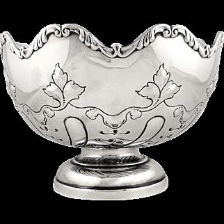 """Antique Edwardian Sterling Silver 8"""" Presentation Bowl 1909"""