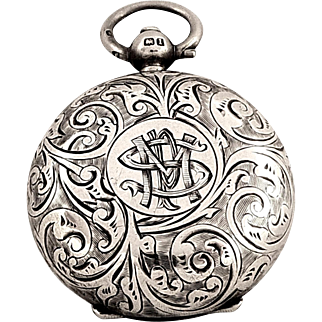 Antique Edwardian Sterling Silver Sovereign Case 1910