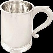 Vintage Solid Sterling Silver Pint Mug / Tankard - Mappin & Webb 1973