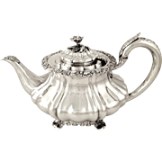 Antique William IV Sterling Silver Teapot - Bateman 1834