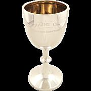 Antique Edwardian Sterling Silver Goblet / Trophy 1909 - Tinline Cup