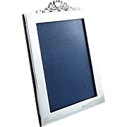 Antique Edwardian Sterling Silver 'Bow/Ribbon' Photo Frame 1909