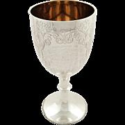 "Antique Edwardian Sterling Silver 8 3/4"" Goblet / Trophy 1906 - South Devon Automobile Club"