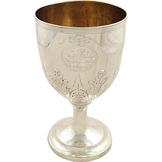 "Antique Georgian Sterling Silver 7"" Trophy / Cup 1809 - Watling St, London"