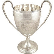 Rare Antique Georgian Sterling Silver Presentation Cup - Newcastle 1803