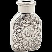 Unusual Antique Victorian Sterling Silver 'The Maze, Morton's Patent' Vesta Case 1895