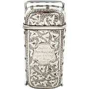 Antique Victorian Sterling Silver Cigar Case 1861