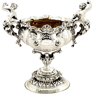 Rare Antique Victorian Sterling Silver Salt Cellar - 1893 - The Salters Company