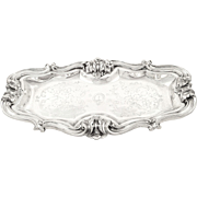 Antique William IV Sterling Silver Snuffer / Pen Tray 1844
