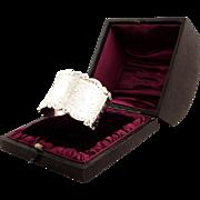 Antique Victorian Sterling Silver Napkin Ring in Presentation Box 1900