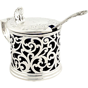 Antique Victorian Sterling Silver Mustard Pot 'G' 1857