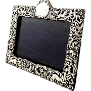 Antique Victorian Sterling Silver Photo Frame 1898