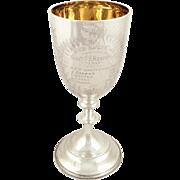 Antique Edwardian Sterling Silver 'Rifle' Goblet / Trophy 1903