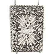 Antique Victorian Sterling Silver Card Case / Aide Memoire 1895