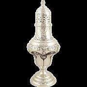 """Antique Edwardian Sterling Silver 10"""" Sugar Shaker / Caster 1904"""