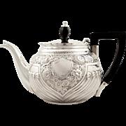 Antique Victorian Sterling Silver Bachelor Teapot 1898