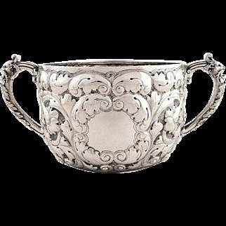 Antique Victorian Sterling Silver Porringer 1893
