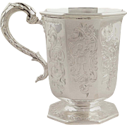 Antique Victorian Sterling Silver Mug/Tankard - Newcastle 1845