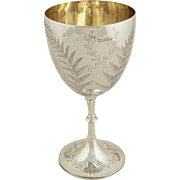 Antique Victorian Sterling Silver Wine Goblet 1872