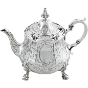Antique Victorian Sterling Silver Teapot 1861