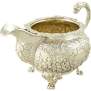 Antique Irish 19th c. Sterling Silver Jug / Creamer - Dublin 1822