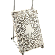 Antqiue Victorian Sterling Silver Card Case 1884