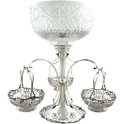 """Antique Sterling Silver Mappin & Webb 14"""" Epergne / Centrepiece 1916"""