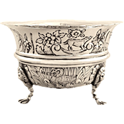 Antique Sterling Silver 'Animals' Bowl 1923