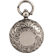 Antique Sterling Silver Sovereign Case 1914