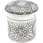 Antique Sterling Silver Vanity Pot 1901