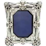 "Antique Victorian Sterling Silver 8"" Photo Frame 1898"