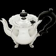 Antique Edwardian Sterling Silver Bachelor Teapot 1907