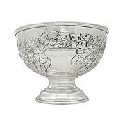 "Antique Edwardian Sterling Silver 7"" Bowl 1909"
