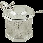 Antique Victorian Sterling Silver Mustard 1870