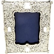 """Antique Victorian Steling Silver 8"""" Photo Frame 1900"""