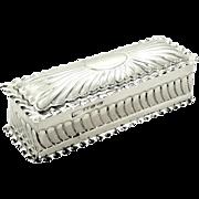 Antique Victorian Sterling Silver Trinket Box 1892