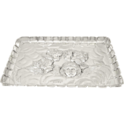 Antique Edwardian Sterling Silver 'Angels' Dressing Tray 1905